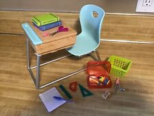 """OUR GENERATION AWESOME ACADEMY SCHOOL REPLACEMENT DESK & ACCESSORIES** 18"""" DOLL"""
