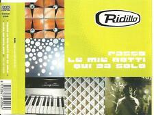 A8 cd single italo RIDILLO PASSO LE MIE NOTTI QUI DA SOLO PRIMA DURANTE . chill