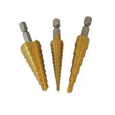 """Silverline titanium-coated Passaggio Drill Set 1/4 """"gambo esagonale 3 pezzi Strumento Accessorio"""