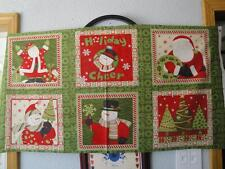 "Santa, Snowmen & Christmas Trees Panel By South Seas Imports-23"" x 44""-Christmas"