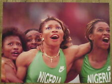 Photo Nigeria,equipe feminine 4 X 100 m,athletisme,JO Barcelone 1992 ,25 x 35 cm