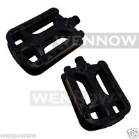 2 Pcs 1 Pair Black Plastic Cycling Skidproof Pedals 2 1//4 × 3 1//2 Inch