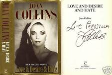 Joan Collins - Love and Desire and Hate - Signed - 1st/1st