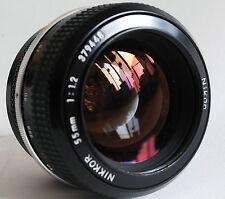Nikon Nikkor 55mm f1.2 excellent AI'd manual focuse lens D5 D4 D3 D3x D2x D300