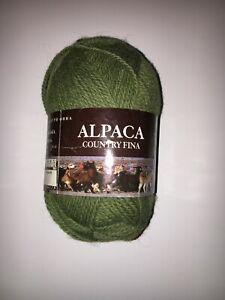 Alpaca Country Fina - One (1) Skein - 50g - Olive Green