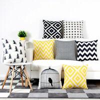 "18"" Striped Pattern Decor Cotton Linen Throw Pillow Case Cushion Cover Home"