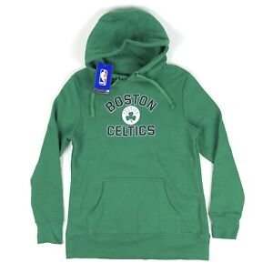 Boston Celtics NBA Fanatics Women Small Green Black Pullover Hoodie Sweatshirt