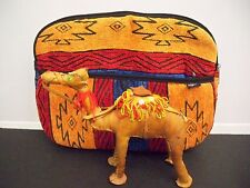 HADEMADE LEATHER STICHED CAMEL IN ZIPPERED BAG FROM EQUADOR