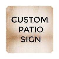 Custom Printed Pool Patio Sign Plaque, Metal Outdoor Beach Pool Party Decor