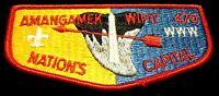 OLD AMANGAMEK WIPIT OA 470 NATIONAL CAPITAL AREA PATCH FLAP PB RED BROTHERHOOD