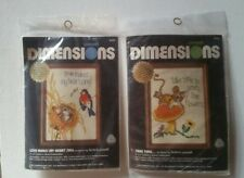 2 Dimensions Crewel Kits Love Makes My Heart Sing 6101 & Take Time 6102 NEW