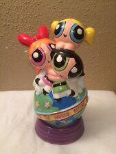 "9"" Cartoon Network Powerpuff Girls Ceramic Piggy Bank Enesco PPG"