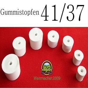 Gummistopfen 41/37 für Gärröhrchen aus Glas und PVC für Flaschen und Weinballon