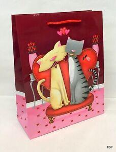 Gift Bag 45842 Cats Paper Bag Birthday 18 x 23 X 8 CM