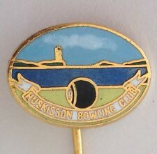 Huskisson Bowling Club Pin Badge Rare Lawn Bowls (L13)