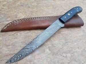 12'' Nest Custom Handmade Damascus Steel Hunting FILLET Knife HORN handle 665
