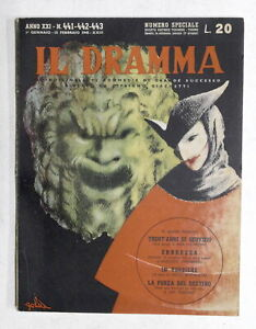 Il Dramma - Quindicinale di commedie N. 441-442-443 - 1945 - Copertina di Golia