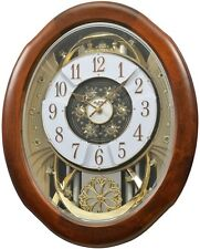 (New!) MAGNIFICENT Musical Magic Motion Wall Clock by Rhythm Clocks 4MH884WD06
