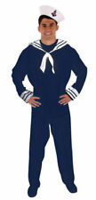 Adult Navy Blue Sailor Man Halloween Party Military Fancy Dress Costume