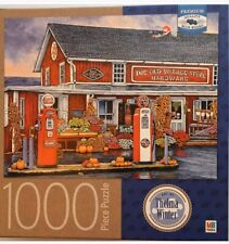 MB Jigsaw Puzzle 1000 Piece. Old Village Store Hardware. Thelma Winter