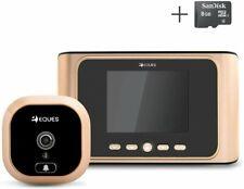 """Greeter Digital Door Viewer """" Doorbell - LCD Security Camera Monitor 165 Wide No"""