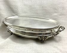 Antique Christofle Silver Plated Food Warmer Chauffe Plat Large Oval Heater