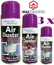 3 x New 200ml Compressed Air Duster Spray Can Cleans Protects Laptops Keyboards