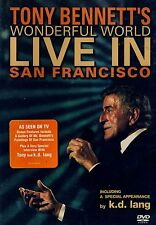 NEW DVD  // TONY BENNETT // LIVE IN SAN FRANCISCO // WONDERFUL WORLD // kd LANG
