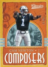 2018 PANINI CLASSICS COMPOSERS INSERT GOLD PARALLEL NO.10 CAM NEWTON #/99