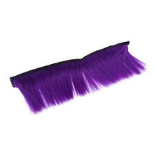 Motorbike Adhesive Helmet Mohawk Hair Patches Skinhead Costumes Wig Purple