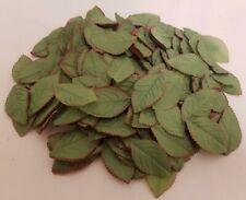 144 pcs Vintage Millinery Green Rose Leaf Loose Leaves for Hats Floral Crafts