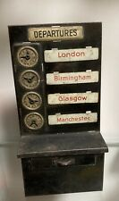 More details for early 1900s bing tinplate destination/departure board