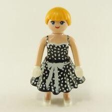 23134 Playmobil Superbe Femme Années 50 avec Robe Noire et Blanche