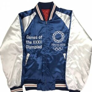 Tokyo 2020 Olympic Games Sports Unisex Yokosuka Satin Jackets Official Goods