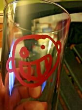 Cool Funky Teeth Smile Funny Face Craft Brewery 16 oz. Pint Beer Glass NICE!