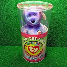 NEW Ty Beanie Baby Bear Clubby IV SEALED in TUBE W/ Possible Ty Warner Signature