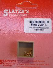 Slaters 7951S - 7mm - 12 x 1.4mm Brass Handrail Knobs New Pack - 1st Class Post