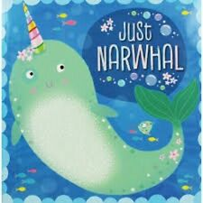 Preschool Bedtime Story Picture Book - JUST NARWHAL by Rosie Greening - NEW