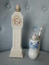 vintage coppia figurale profumo mignon Cologne Avon pipa pendolo empty vuote