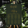 Personalised Wedding Seating Plan Planner Table Plans Chart Gold Text | A1 A2 A3