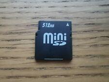 512MB Mini SD Card (miniSD) - Vintage Memory Card