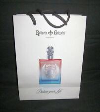 Geschenktüte Tüte Geschenk Box weiß creme Print Parfum Flacon Roberto Geissini