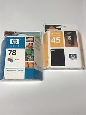 HP 45 51645A and 78 Tri-color ink cartridge New C6578DN Genuine