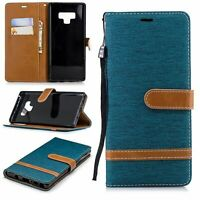 Samsung Galaxy Note 9 Cellphone Case Schutz-Tasche Cover Card Compartment Green