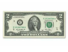Crisp 2013 Uncirculated Usa $2 Two Dollar Bill Note Sequential Order New Rare!
