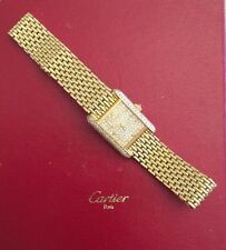 18K Yellow Gold Cartier Petite Women's Tank Watch W/ Diamonds MAKE AN OFFER
