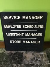 Business Sign Black Wall Service Manage, Employee Scheduling, Store Manager
