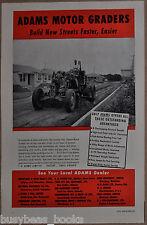 1951 Adams Motor Grader advertisement, Canadian advert, old suburb construction