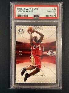 2004 SP Authentic LeBron James 2nd Year #14  - PSA 8 NM-MT - QTY Available