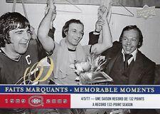 2008-09 Montreal Canadiens Centennial Memorable Moments Guy Lafleur #295